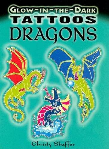 Glow-in-the-Dark Tattoos Dragons (Dover Tattoos) -