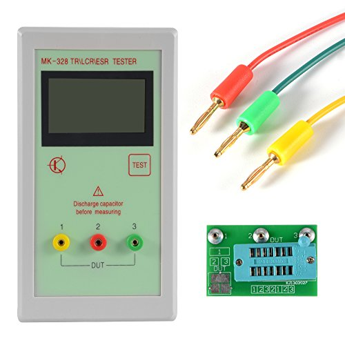 Bonega MK-328 TRLCRESR Backlight 12864 LCD Multi-Use ATmega328 Transistor LCR ESR Tester Semiconductor Device Analyzer Meter TE703