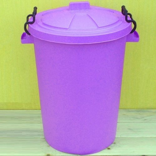 Lilac 110 Litre Bin/Storage For Homes Gardens Animal Feed (Make In The UK) Image Accessories