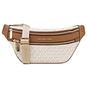 Michael Kors Kenly Medium Crossbody Waist Pack Vanilla Signature