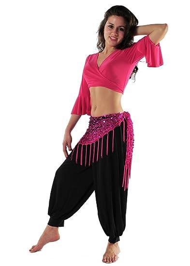Belly Dance Costume Set | Harem Pants-Top & Hip Scarf | Ukhti mn Al'din