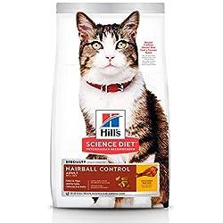 Hill's Science Diet, Alimento para Gato Adulto Hairball Control, Seco (Bulto) 3.2kg