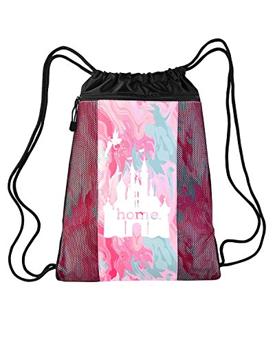 Price comparison product image Disney Is My Home Nylon Cinch Backpack (Pink Tie Die - Prime)