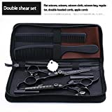 6 Inch Hairdressing Scissors 440C Stainless Steel Professional Salon Barbers Thinning Shears Hair Scissors Set (thinnng&cutting)