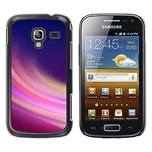 TopCaseStore / la caja del caucho duro de la cubierta de protección de la piel - Abstract Purple Lines - Samsung Galaxy Ace 2 I8160 Ace II X S7560M