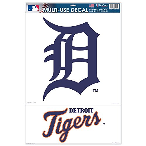 Wincraft MLB Detroit Tigers 25321061 Multi Use Decal, 11 x 17, Black