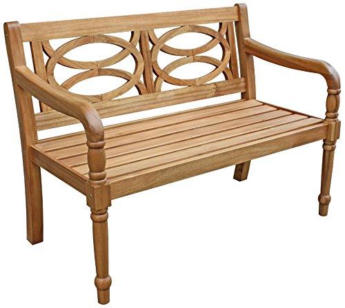 Dehner Gartenbank Brighton 2-Sitzer, ca. 115 x 60 x 89.5 cm, FSC Akazienholz, natur