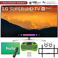 "LG 65SK9000PUA 65"" Super UHD 4K AI Smart TV w/Nano Cell Display (2018 Model) + Free Hulu $100 Gift Card + 1 Year Extended Warranty + Flat Wall Mount Kit Ultimate Bundle + More"