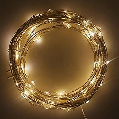 Solar Powered String Light, ERUN 100 LEDs Starry String Lights, Copper Wire Lights Ambiance Lighting for Outdoor, Gardens, Homes, Dancing, Christmas Party Lighting for Outdoor, Gardens, Homes, Dancing, Christmas Party