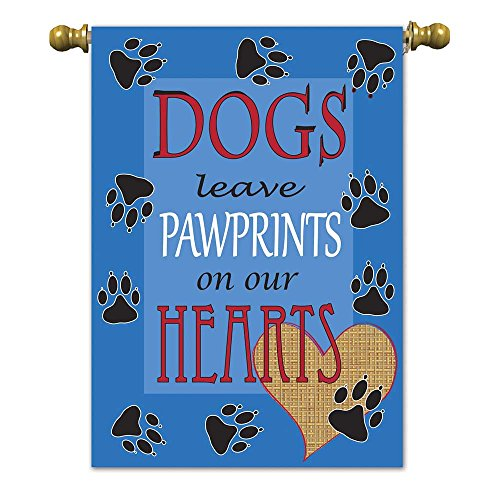 Magnolia 01715 Dogs Leave Pawprints Garden Flag, 13