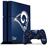 Skinit NFL Los Angeles Rams PS4 Console and Controller Bundle Skin - Los Angeles Rams Distressed Design - Ultra Thin, Lightweight Vinyl Decal Protection