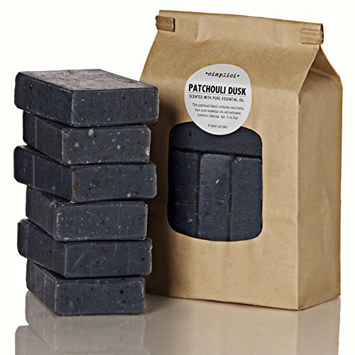 SIMPLICI Patchouli Charcoal Soap Value Bag 6 Bars