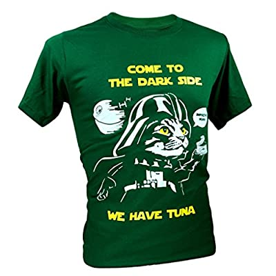 """Tee Adult Unisex Star Wars """"Come To The Dark Side"""" Cat Funny T-Shirt"""