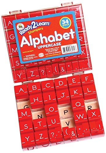 Center Enterprise CE6813 READY2LEARN Uppercase Manuscript Alphabet Stamps, 1-1/2