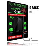 iPhone 6S / 6 Screen Protector, ShockWize [10 Pack] iPhone 6s / 6 Tempered Glass Screen Protector for Apple iPhone 6s / 6 [3D Touch Compatible] (Ten Pack)