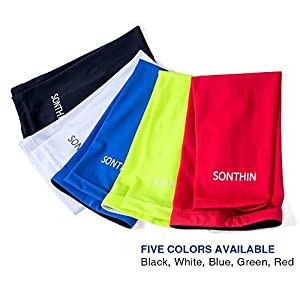 SONTHIN Leg Sleeves Compression Keen Long Sleeves for Men Women Youth (5 Colors Available,1 Pair)