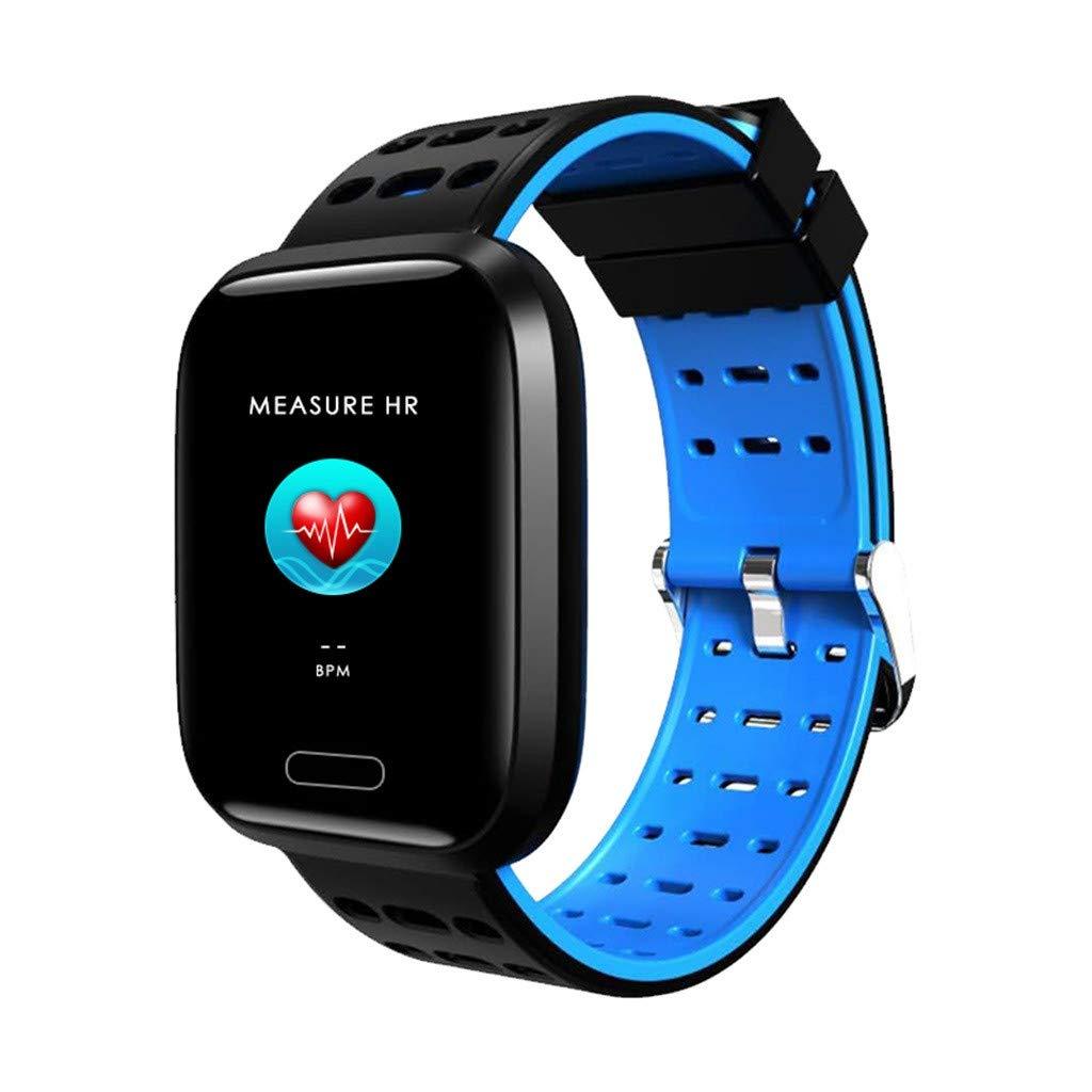 1.3inch Full Color Screen Blood Pressure Heart Rate Monitor Smart Watch Bracelet