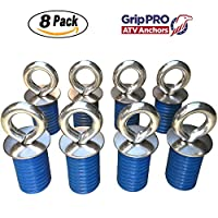 Polaris Lock & Ride ATV Tie Down Anchors for RZR, Sportsman and Ace - Set of 8 Lock and Ride Type Anchors by GripPRO ATV Anchors