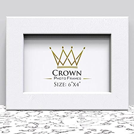 Crown White Photo Frame for 6x4 Inches (15.2 x 10.2 cm) Picture ...