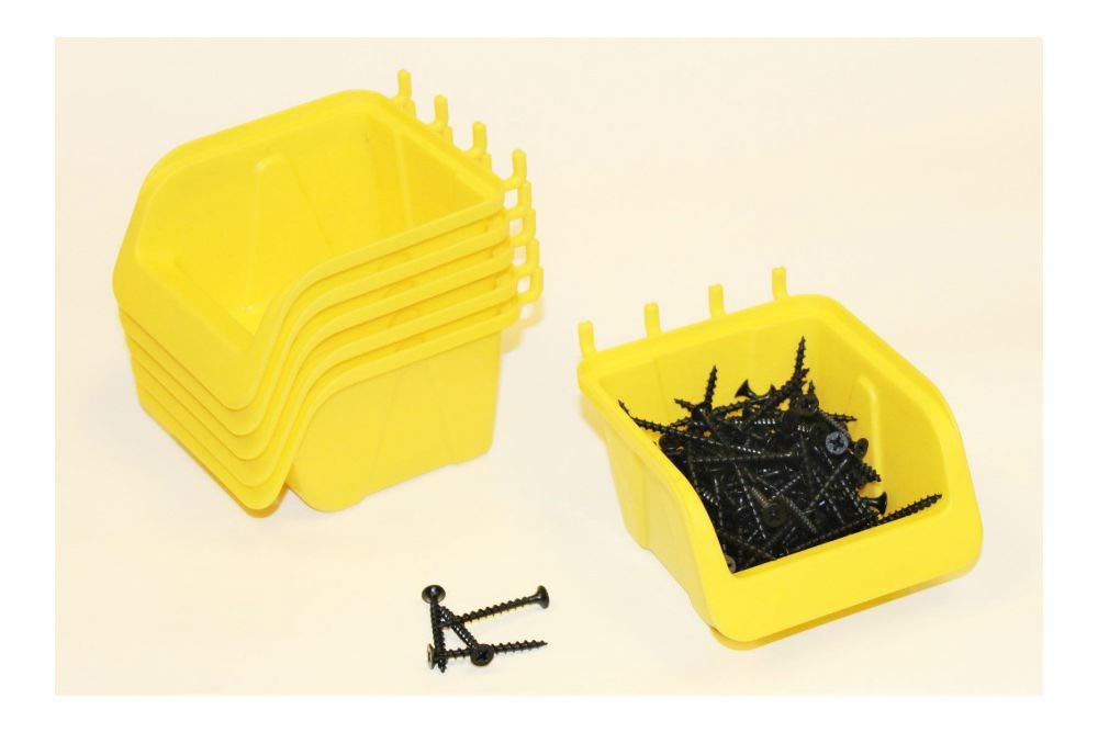PEG BOARD BINS 10 PACK Hooks to Peg Tool Board - Workbench- by Unknown (Image #1)