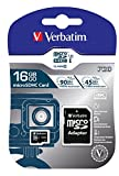 Verbatim 16GB Pro 600X microSDHC Memory Card with Adapter, UHS-I V30 U3 Class 10