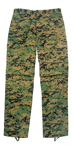 Camouflage Military BDU Pants, Army Cargo Fatigues (Digital Woodland Camouflage, Size X-Large) ()
