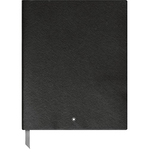 Montblanc Sketch Book Black Lined #149 Fine Stationery 116931 / Elegant Sketching Book with Leather Binding and Ruled Pages / 1 x (8.2 x 10.2 ()