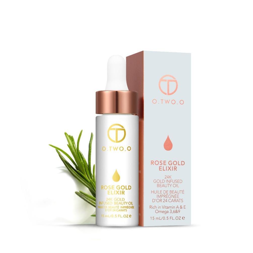 Paolian 15ML Or Rose Levres Avant d'huile de Maquillage Teint Hydratant Liquide Base de Maquillage Résistance Aux Rides Pour Toute la Peau (1) China