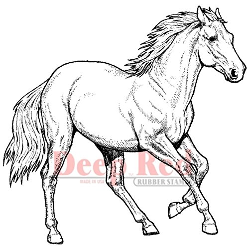 (Deep Red Stamps Wild Horse Rubber Stamp)