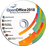 Software : Open Office Suite 2018 CD for Home Student Professionals and Business, Compatible with Microsoft Office for Windows 10 8 7 powered by Apache OpenOfficeTM