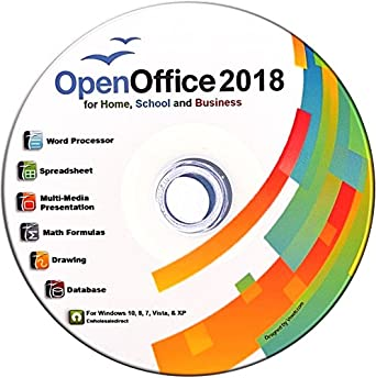 Open Office Suite 2018 CD for Home Student Professionals and Business, Compatible with Microsoft Office for Windows 10 8 7 powered by Apache OpenOfficeTM
