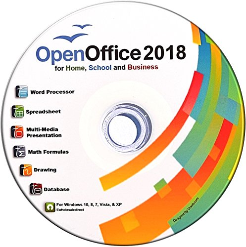 Open Office Suite 2018 CD for Home Student Professionals and Business, Compatible with Microsoft Office for Windows 10 8 7 powered by Apache (Multimedia Software)