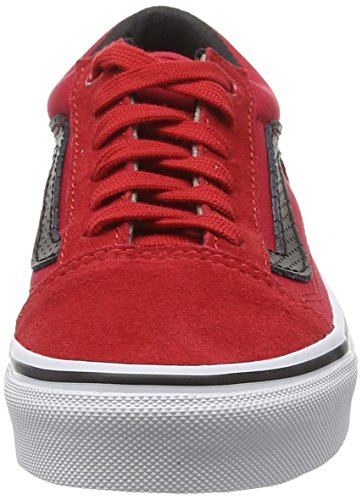 Vans K Old Skool - Zapatillas bajas infantiles Rojo (C&P racing red/black)