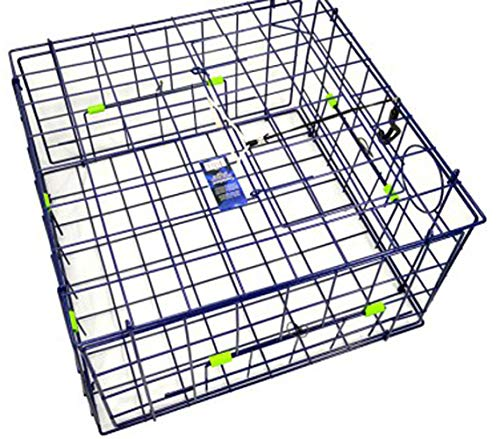 (FTCDLX Crab Trap Fold-Up Square DLX, Blue, 24