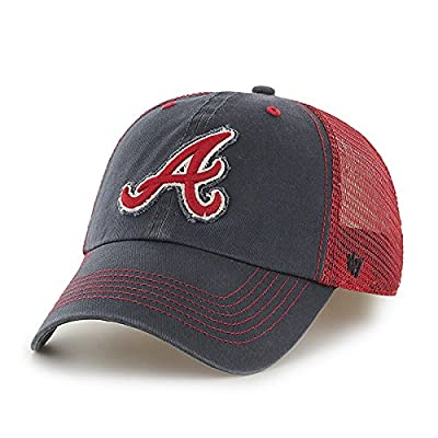 Atlanta Braves 47 Brand Navy Red Taylor Mesh Closer Flexfit Slouch Hat Cap