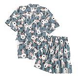 DRAGON SONIC Japanese Style Kimono Pajamas Summer Cotton Steaming Clothes,M1
