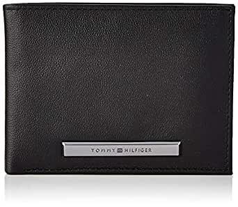 Tommy Hilfiger Men's Corp Plaque Extra Cc And Coin, Black, One Size