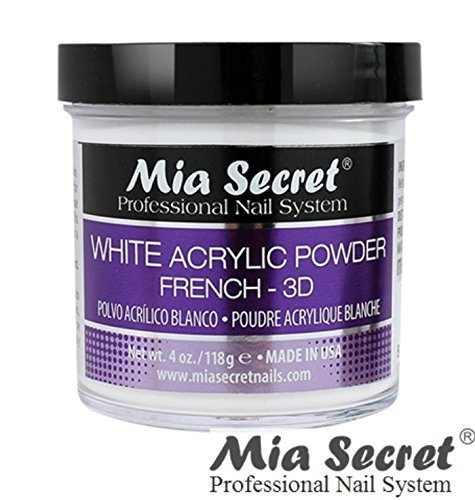 Mia Secret 4 oz White Acrylic Powder French - 3D Professional Nail Art System