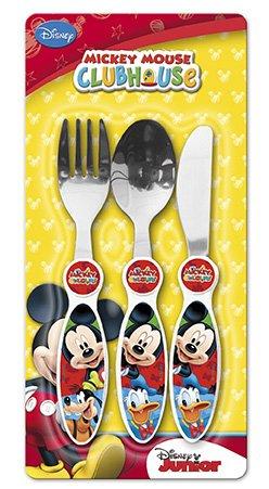 Disney, 91482, Set cubiertos 3 unidades mickey mouse. cubiertos de metal.