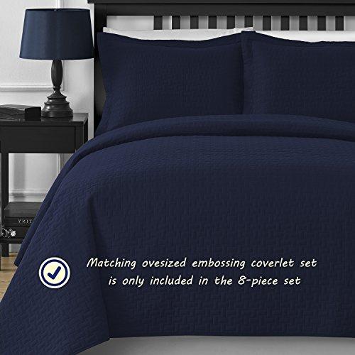 Comfy Bedding Frame Jacquard Microfiber Comforter Sets