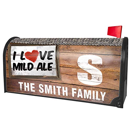 (NEONBLOND Custom Mailbox Cover I Love Mild ale Beer)