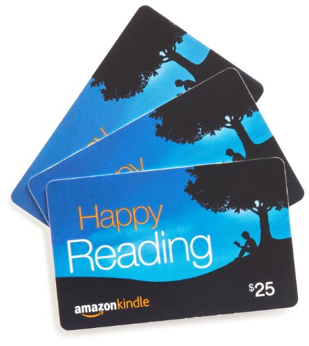 Amazon.com $25 Gift Cards, Pack of 3 (Amazon Kindle Card Design)