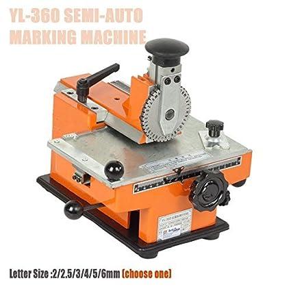Amazon Com Yl 360 Manual Metal Label Printer Marking Machine