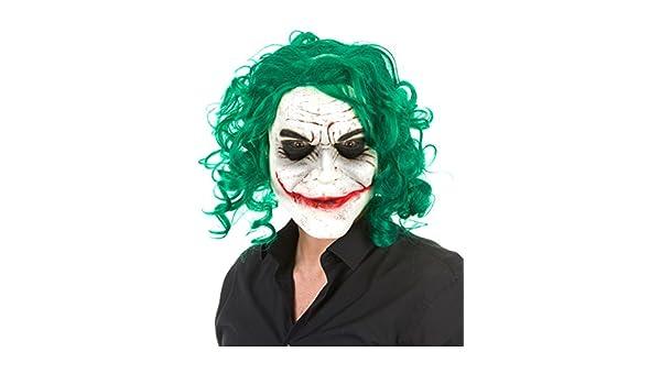 Máscara látex arlequín psicópata adulto Halloween: Amazon.es: Juguetes y juegos