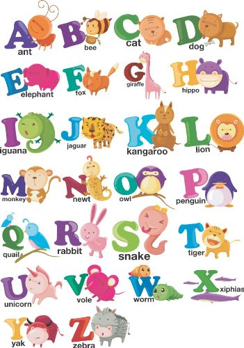 alphabet letters characters peel and stick vinyl stickers wall art graphics decal