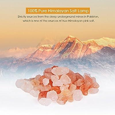 Niubity Triangle Hand Carved USB Wooden Base Himalayan Crystal Rock Salt Lamp Air Purifier Night Light