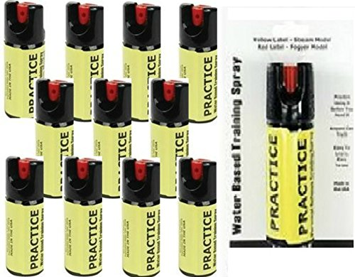 (Inert Pepper Spray Practice Bundle - Lot of 12 - Inert Practice Pepper Spray Units 2oz Stream)