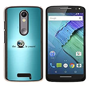 YiPhone /// Prima de resorte delgada de la cubierta del caso de Shell Armor - EL PLANETA ES SUYO - Motorola Moto X3 3rd Generation