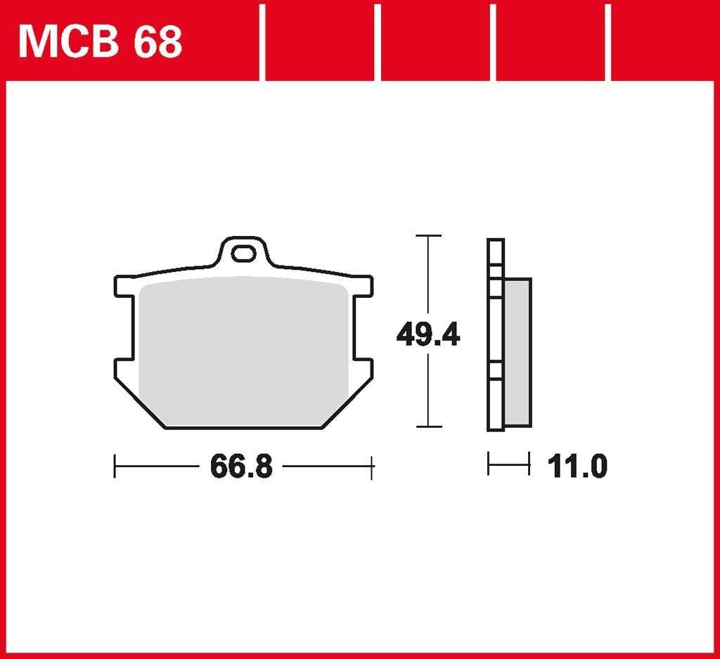 Scheibenbremse Bremsbelag TRW organischer Allround-Bremsbelag SR 500 SP 48T 87-91 vorne