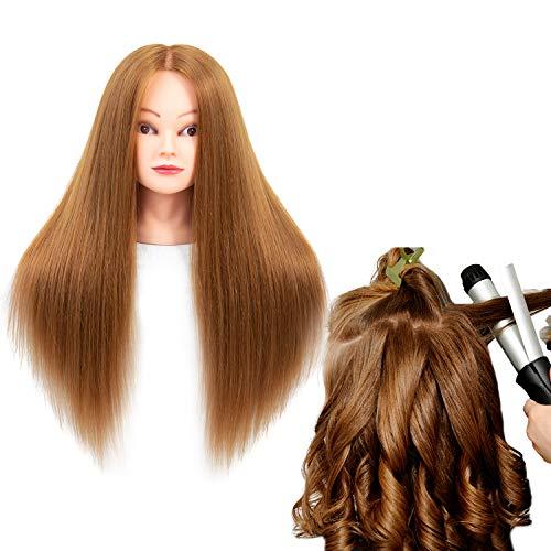 Cabeza practica peluquería/ 60% pelo real/66cm/maquillada/27